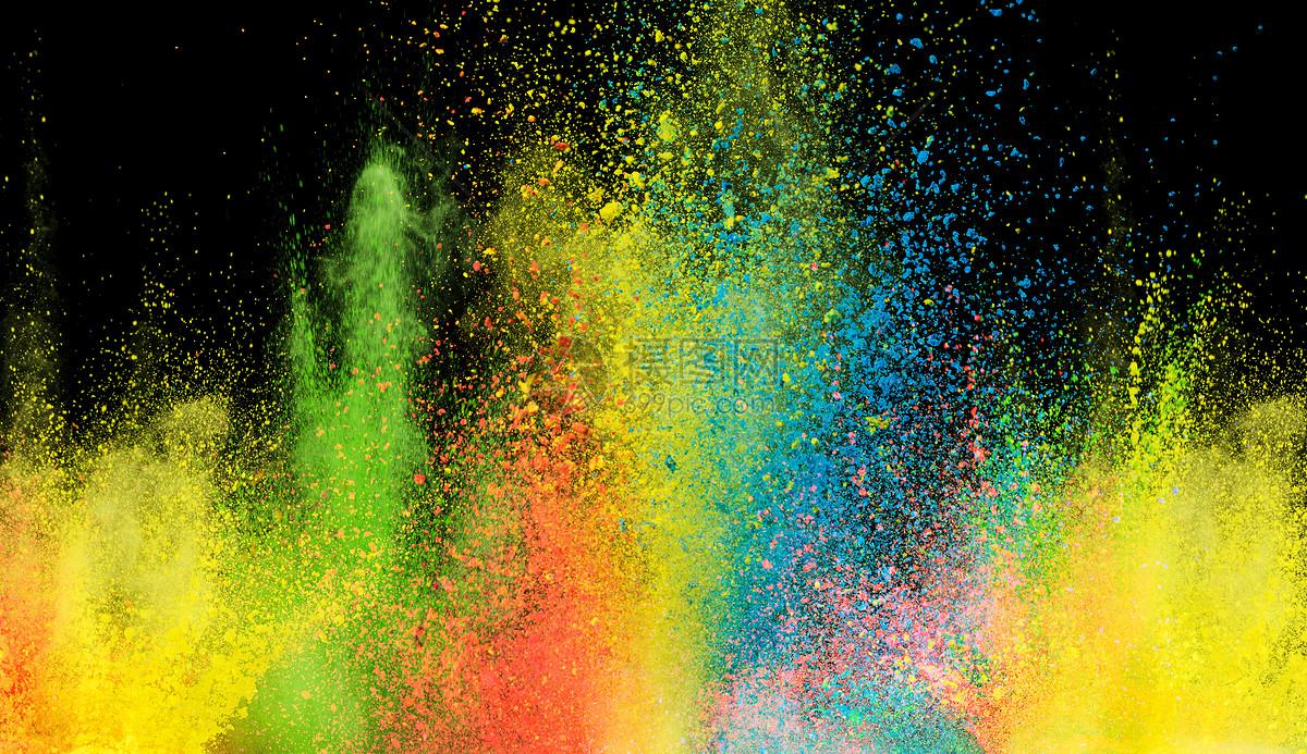 创意粉末喷溅场景图片