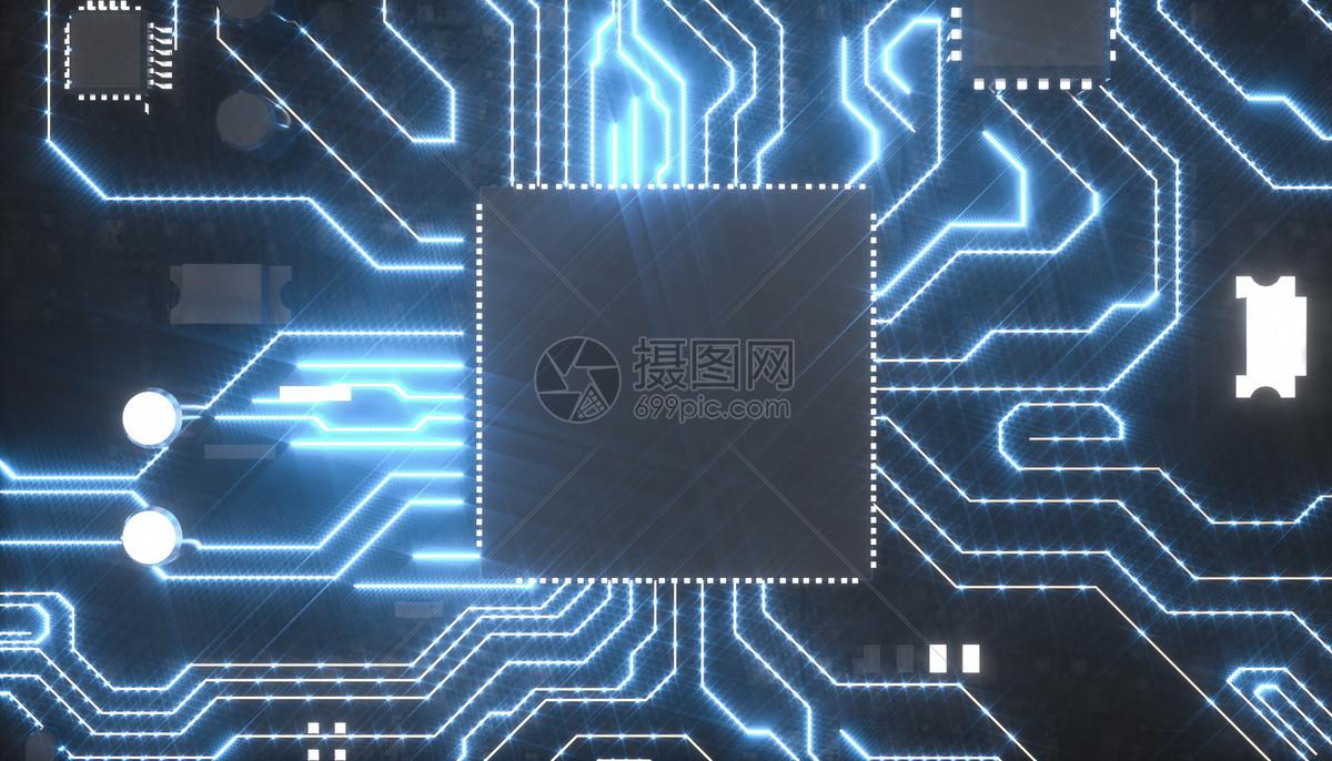 科研芯片场景图片
