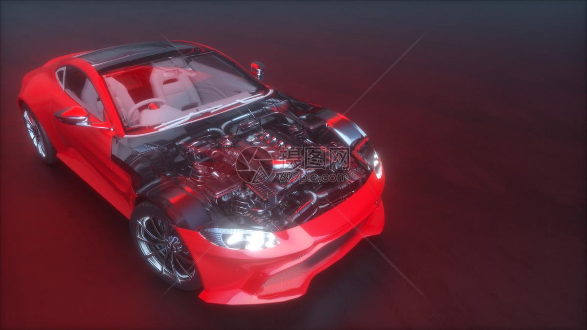 汽车结构场景图片