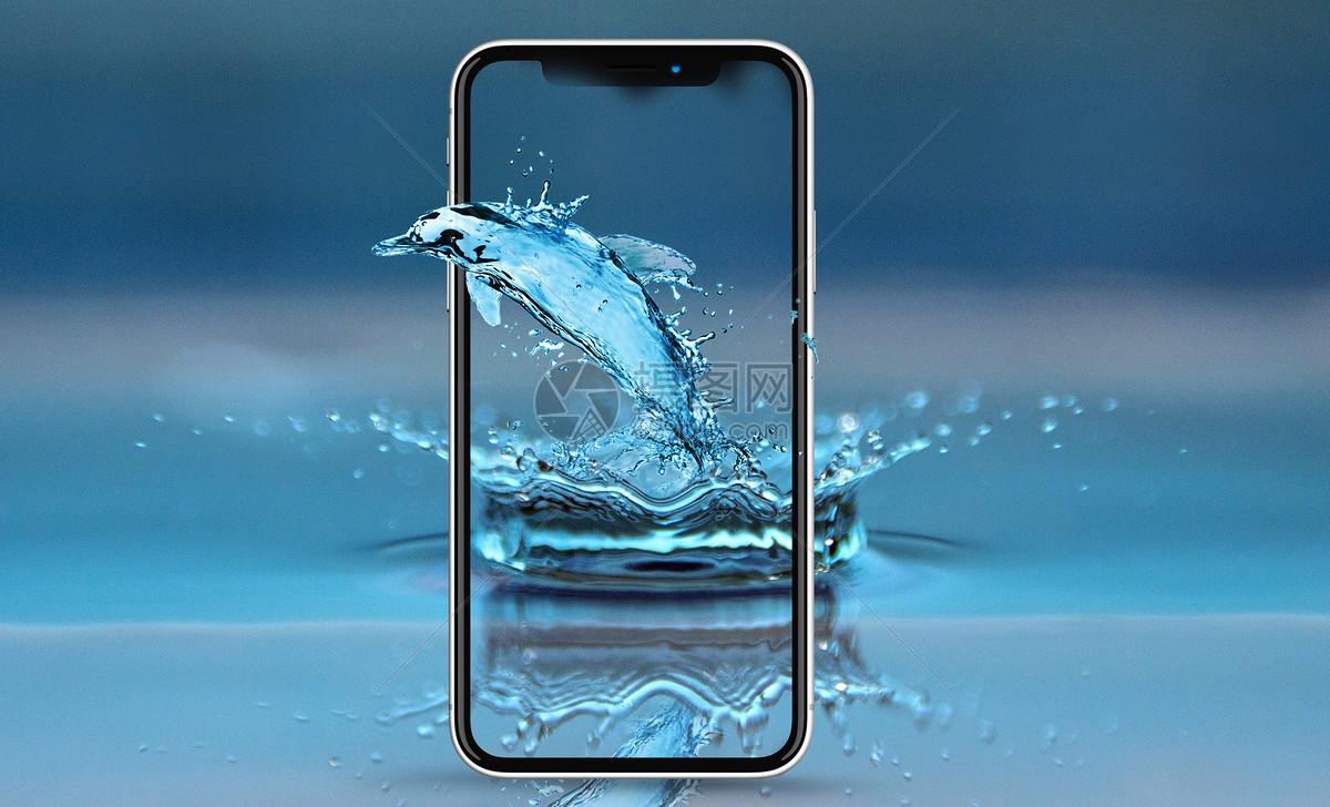 穿越手机的海豚图片