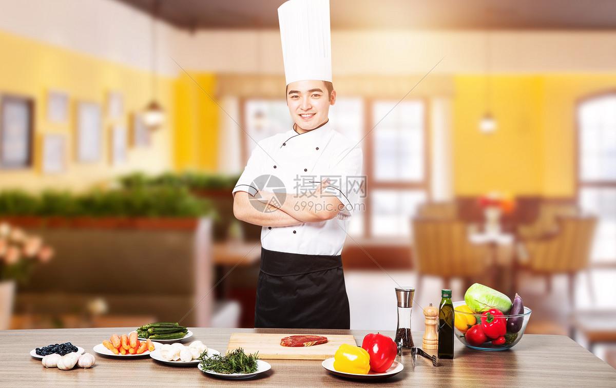 餐厅大厨图片