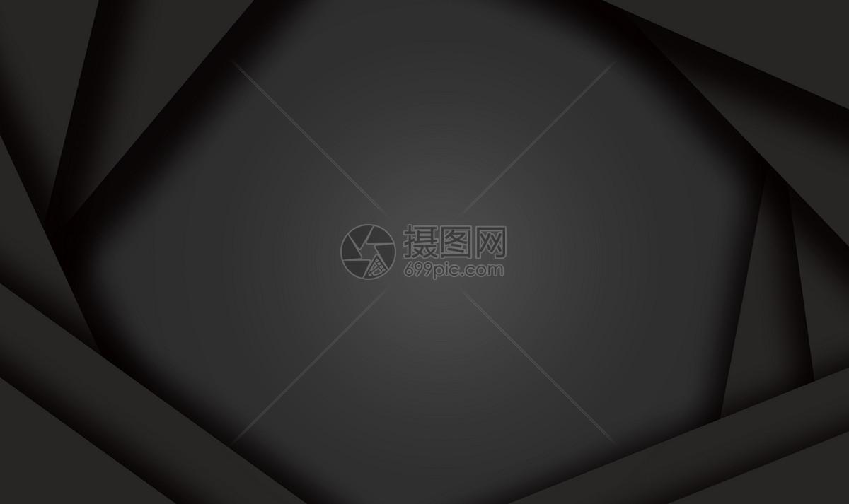 大气简约黑色背景图片