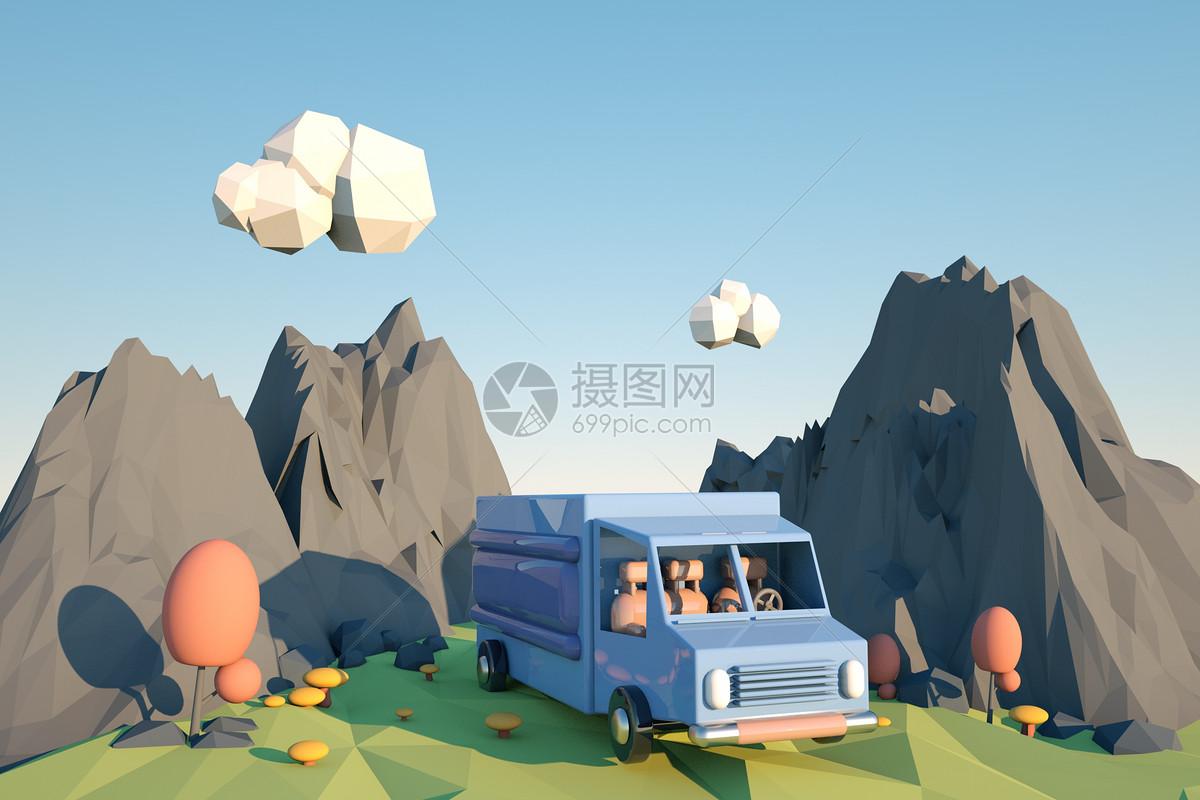 运输车模型图片