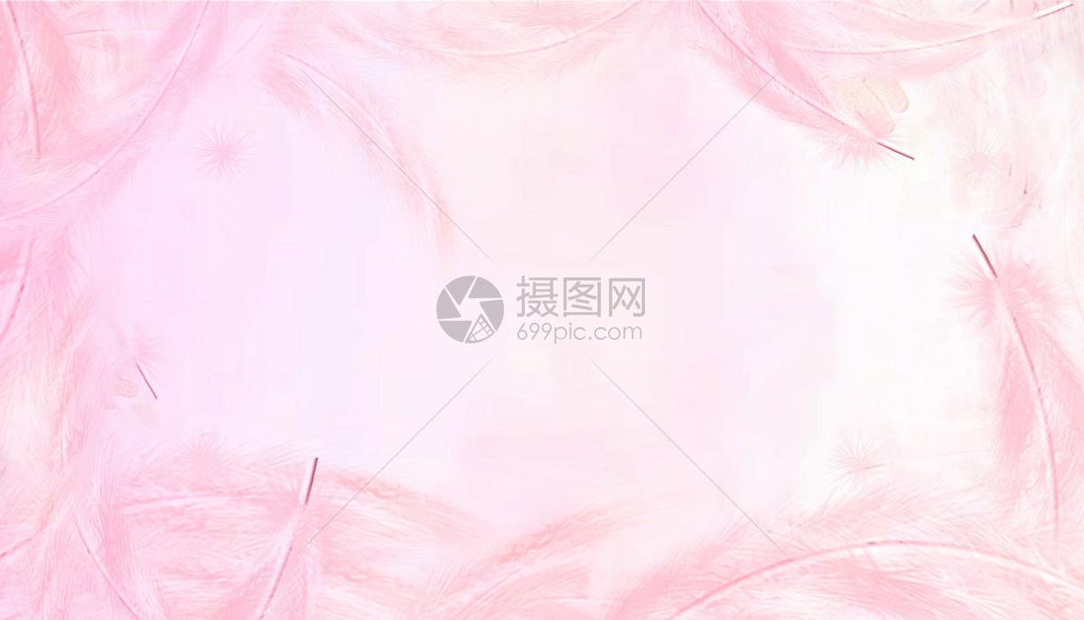 粉色梦幻羽毛图片