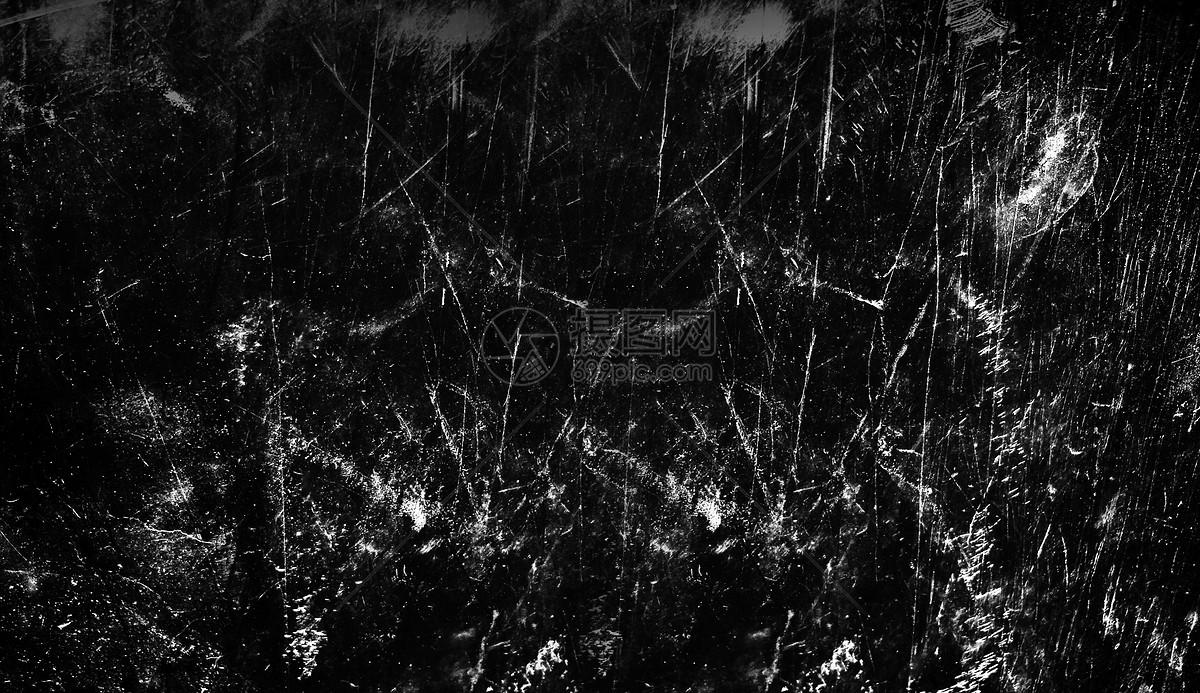 黑色做旧划痕背景图片
