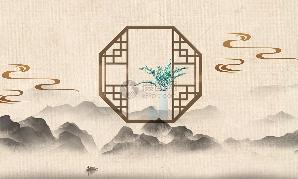 中国风背景海报图片