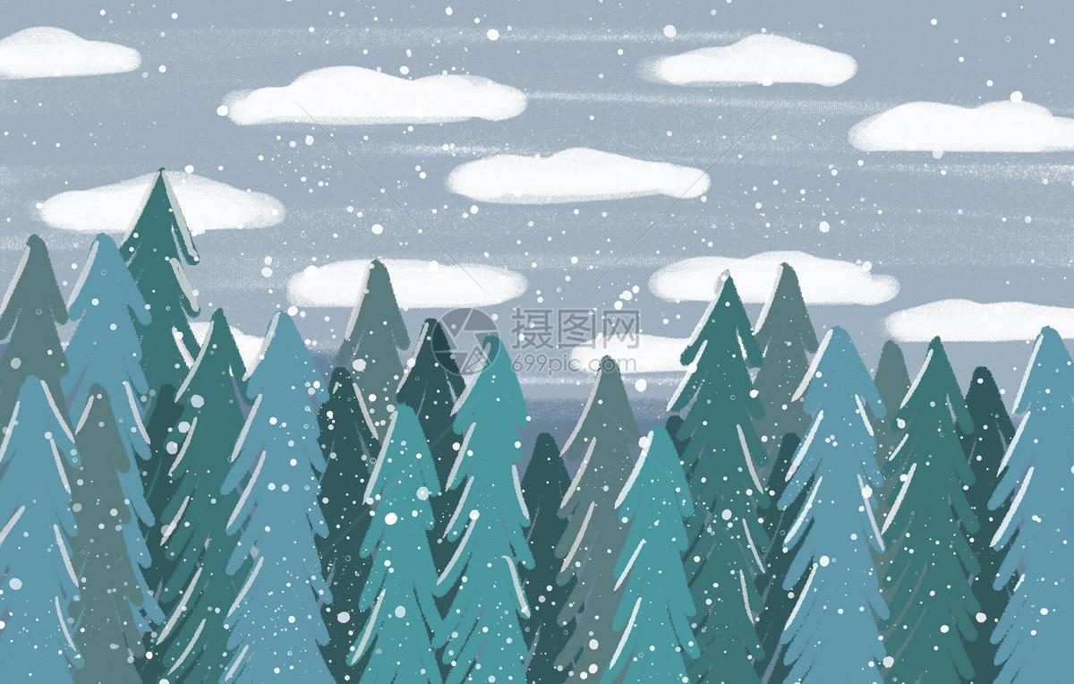 冬天下雪背景图片