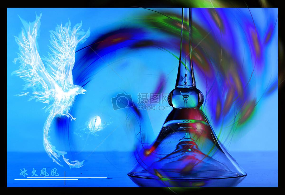冰火凤凰玻璃柱图片素材_免费下载_jpg图片格式_vrf