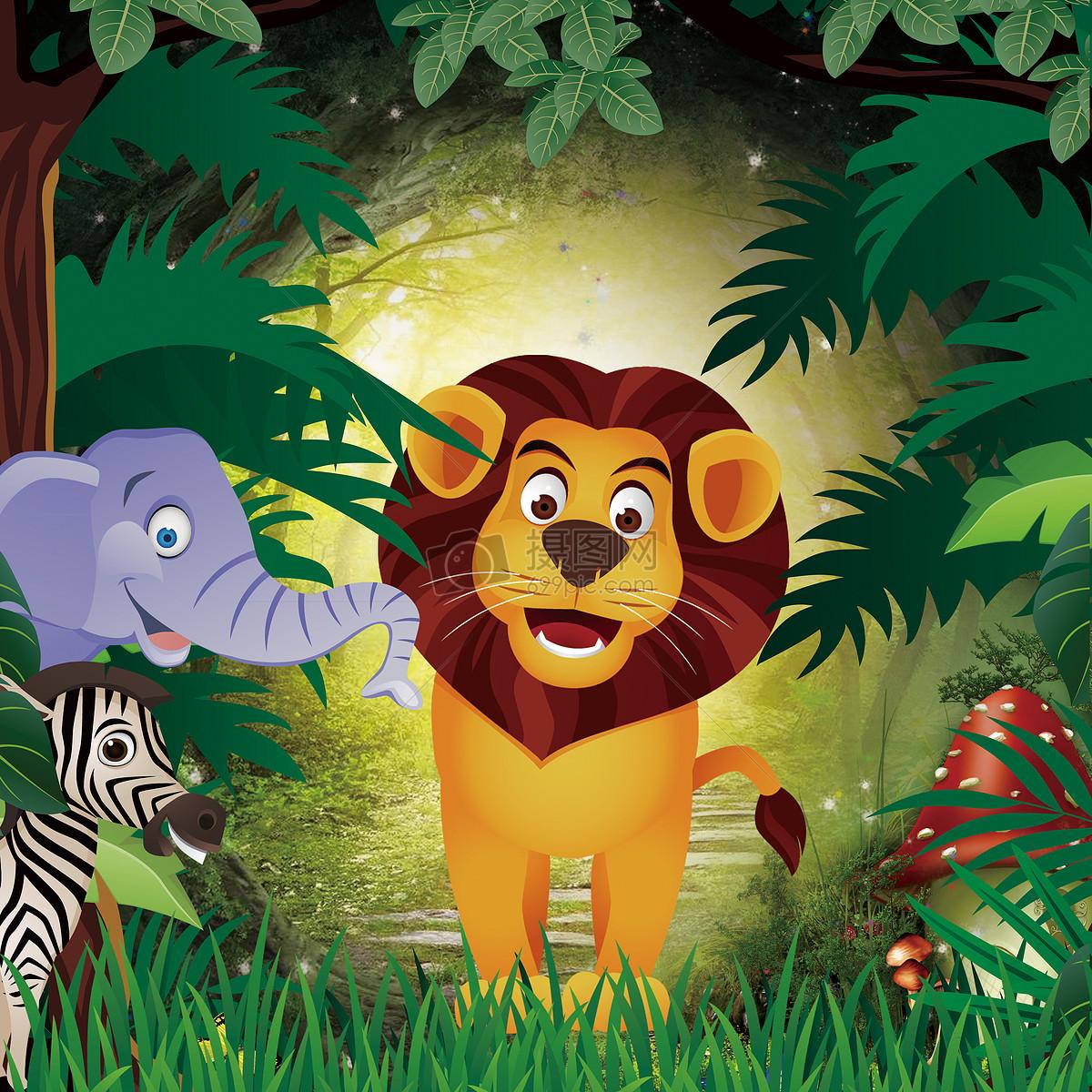 卡通森林图片素材_免费下载_jpg图片格式_vrf高清图片
