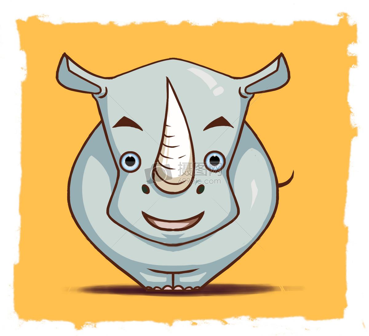 可爱的小犀牛动画
