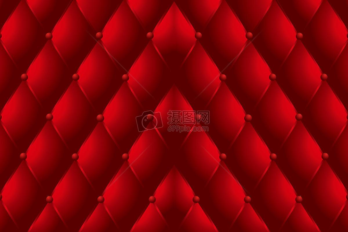 高档深红色欧式花纹图案