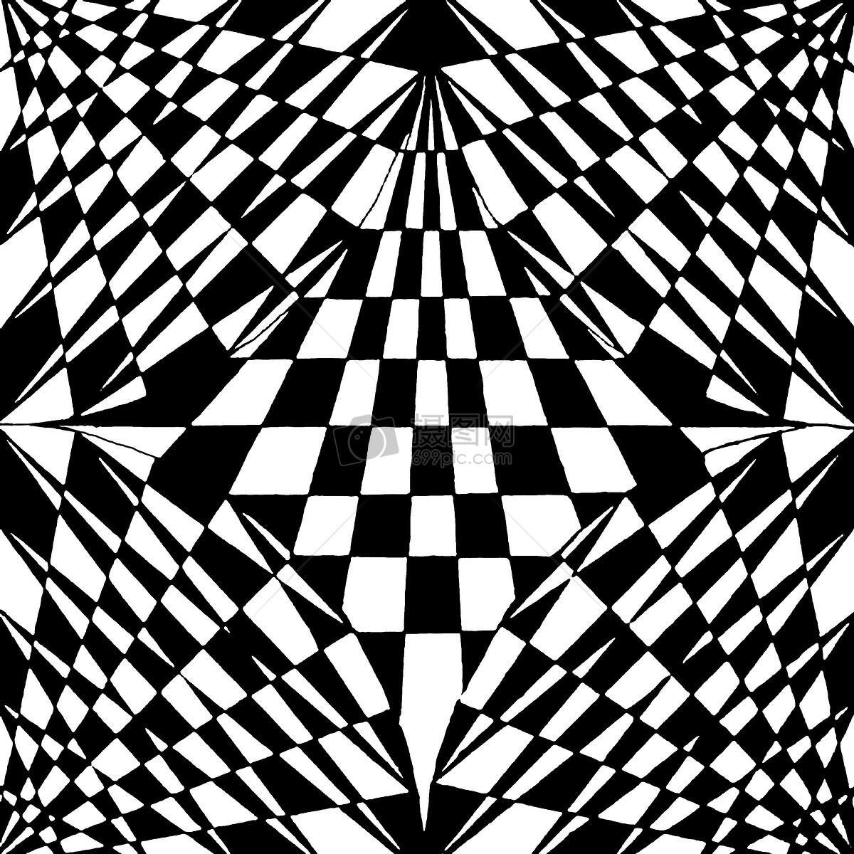 黑白的渐变构成作品