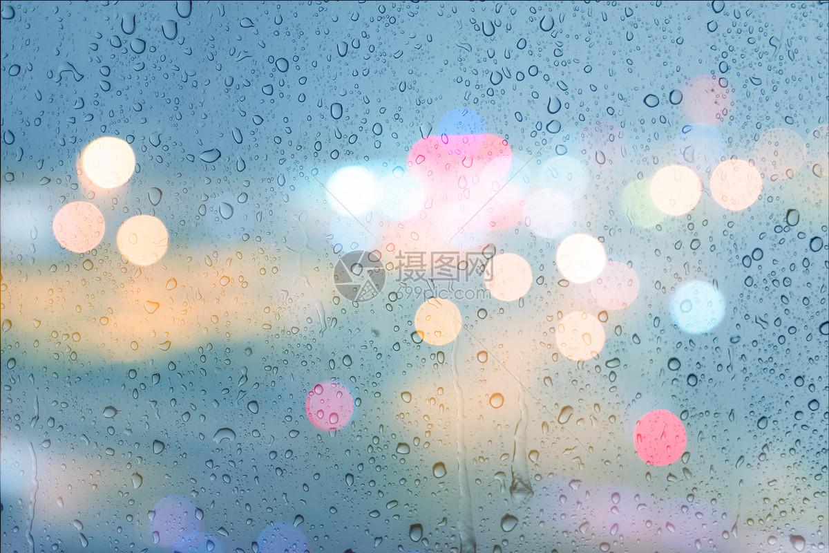 一年级画画雨滴