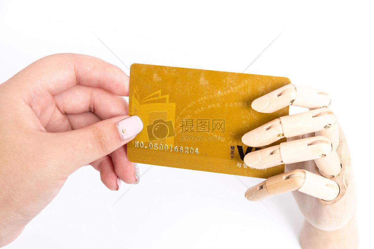 木制手模型传递卡片图片