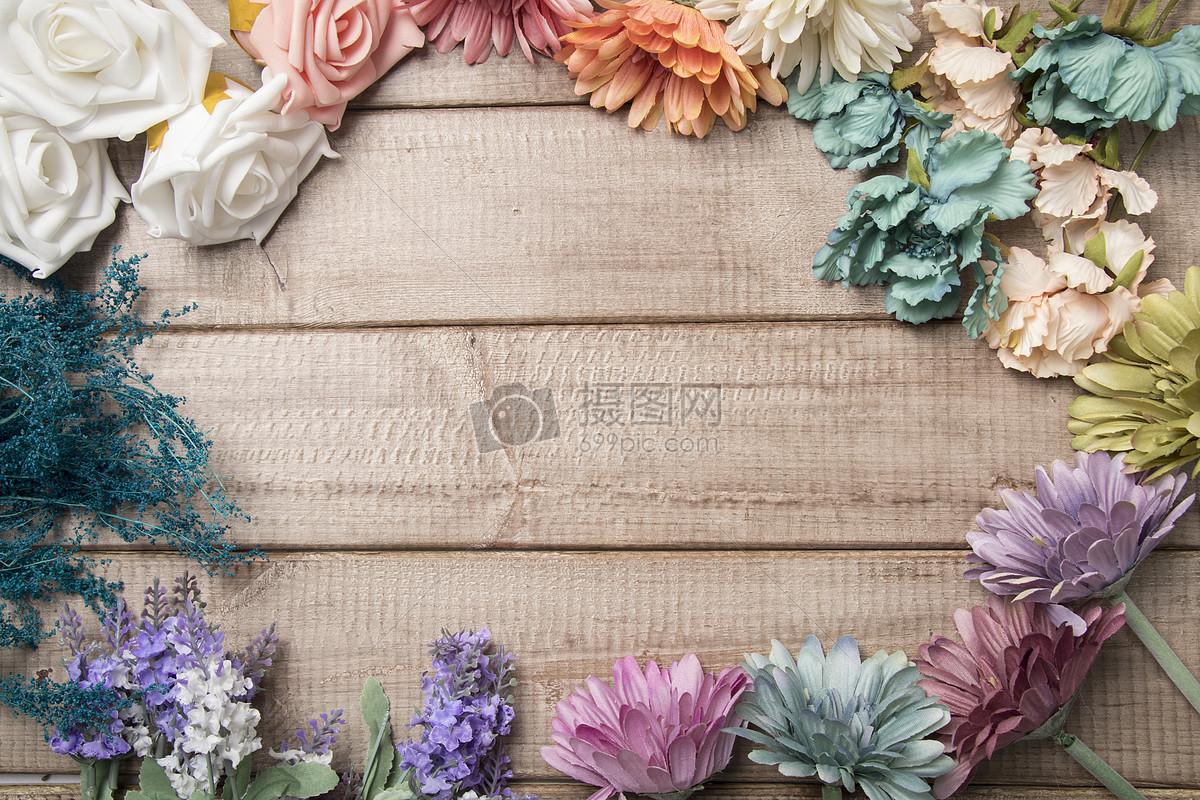 复古背景鲜花木板设计素材图片素材_免费下载_jpg图片格式_vrf高清