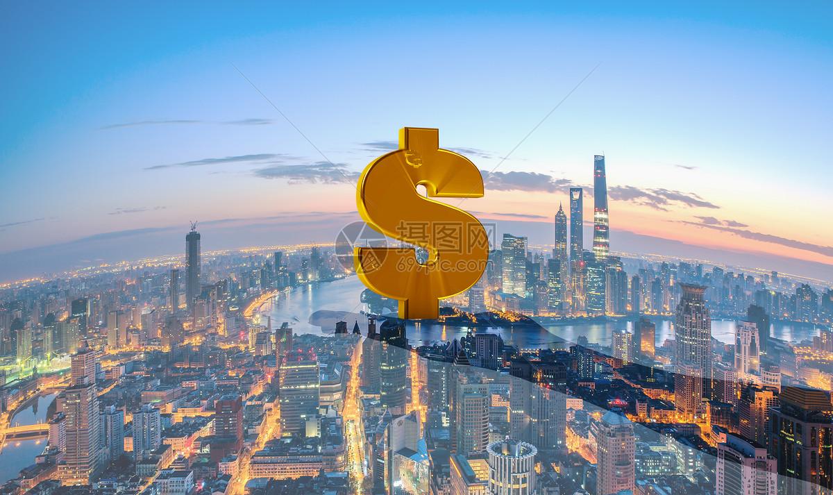 商业金融美元钱币背景图片
