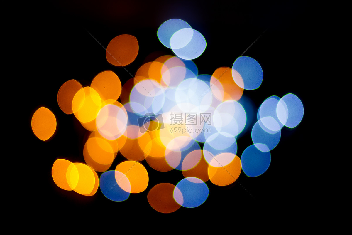 标签: 霓虹灯灯光灯虚化背景素材设计创意黑色彩色蓝色黄色红色白色