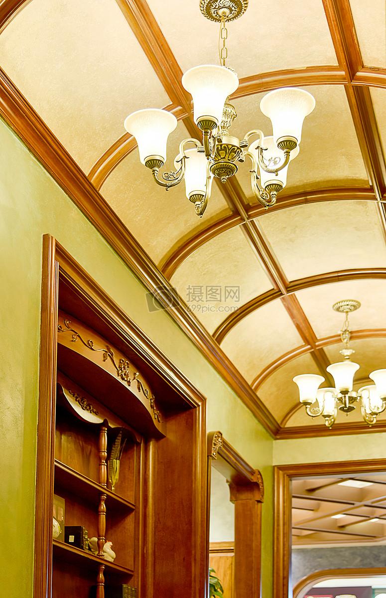 现代简约简欧式家装家居家具厨房客厅柜子吊顶吊灯