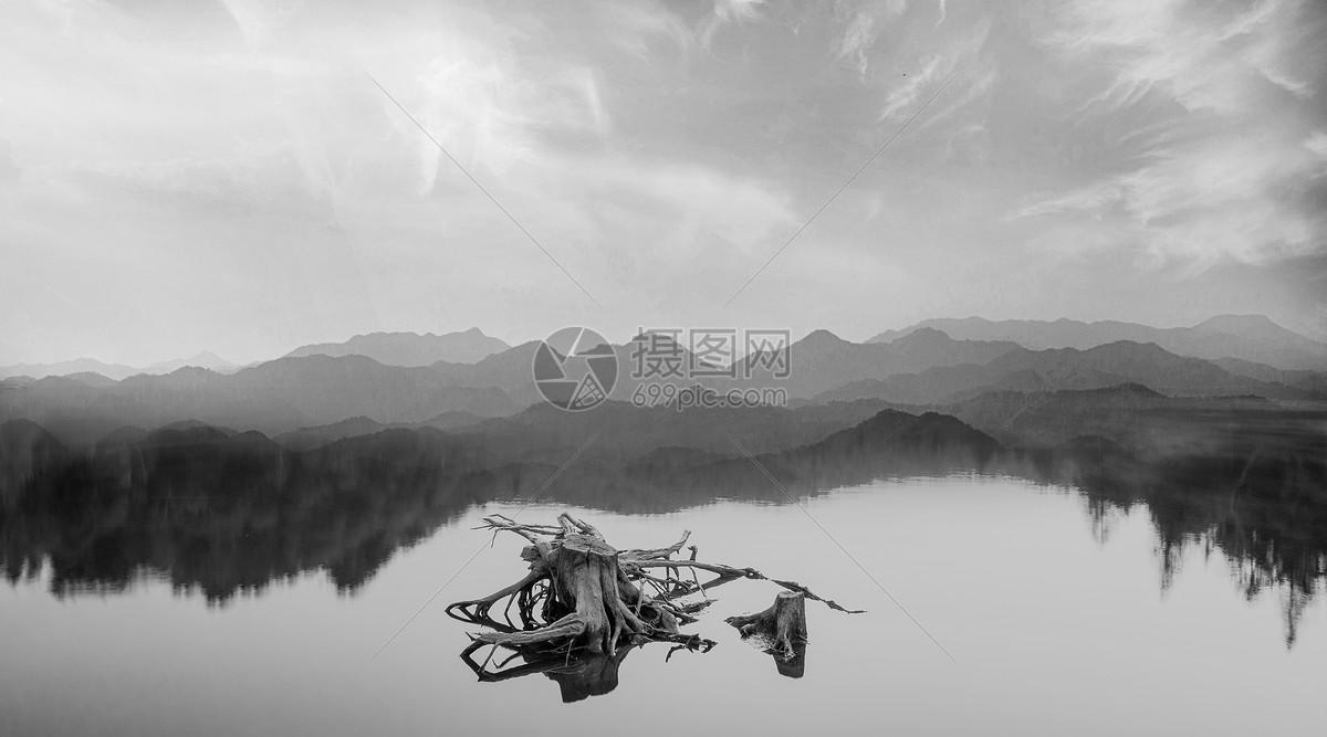 黑白山水图片素材_免费下载_jpg图片格式_vrf高清图片