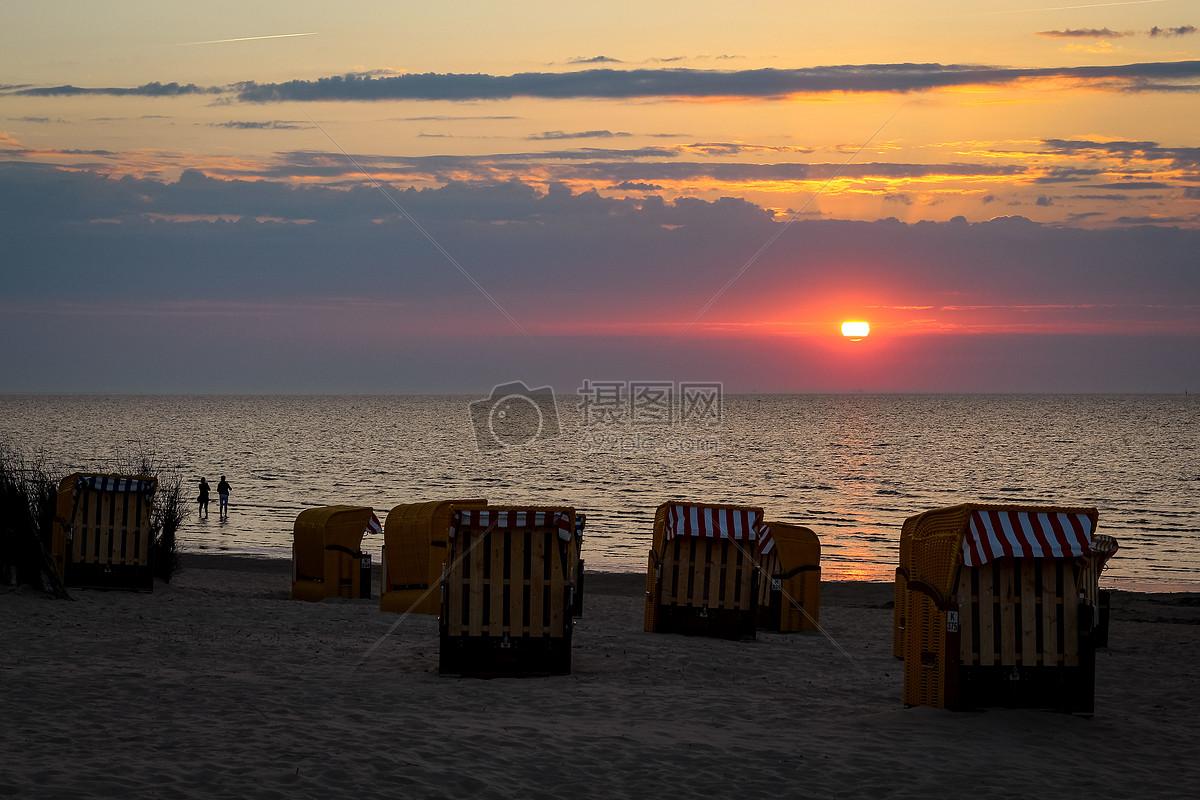 图片 照片 自然风景 傍晚的海边.jpg