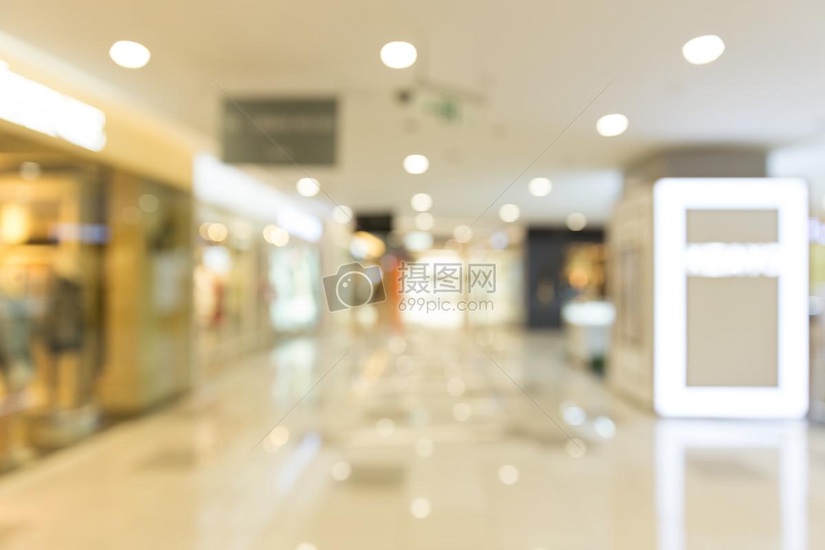 城市商场店铺场景虚化