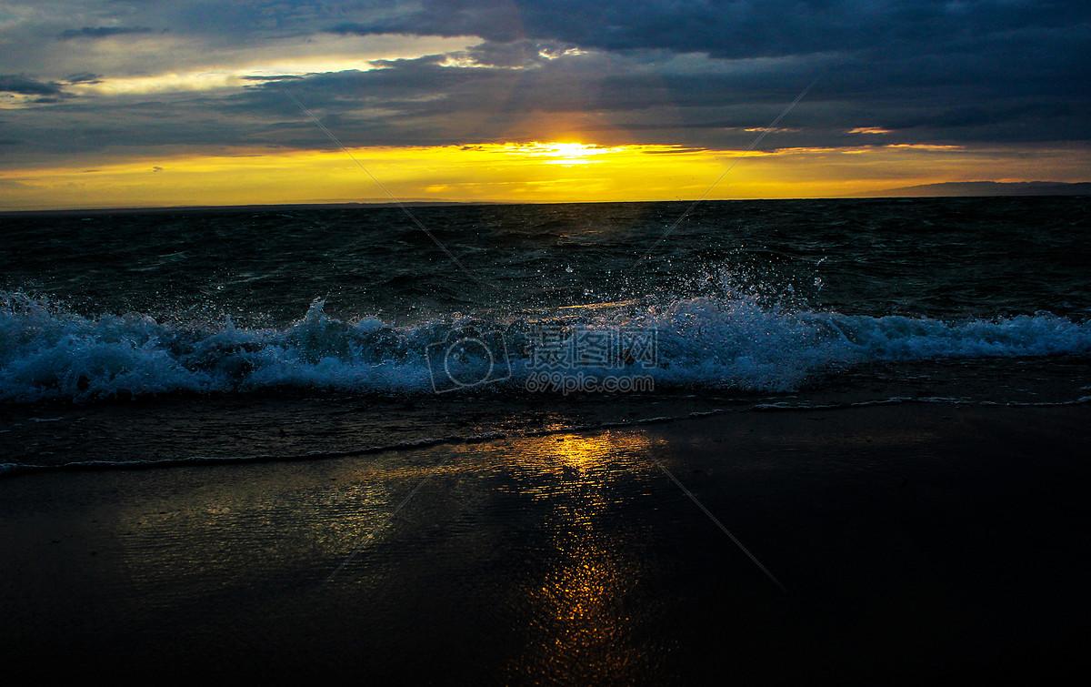 乌伦古湖 雨后初晴摄影图片素材免费下载_自然/风景