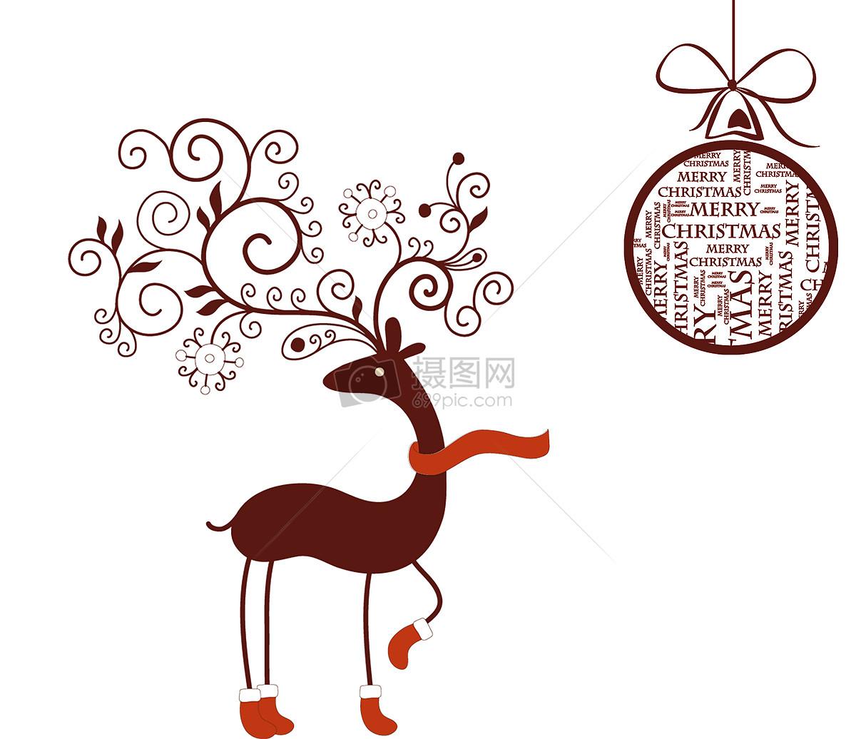 圣诞 圣诞节 海报 购物 梅花鹿图片素材_免费下载_jpg