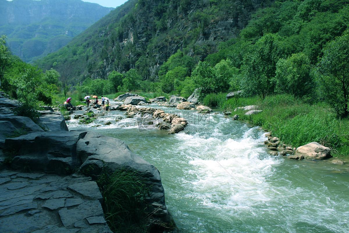 大山里的小溪摄影图片免费下载_自然/风景图库大全