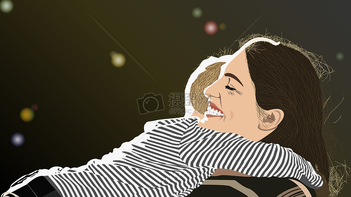 漫画抱着孩子的妈妈