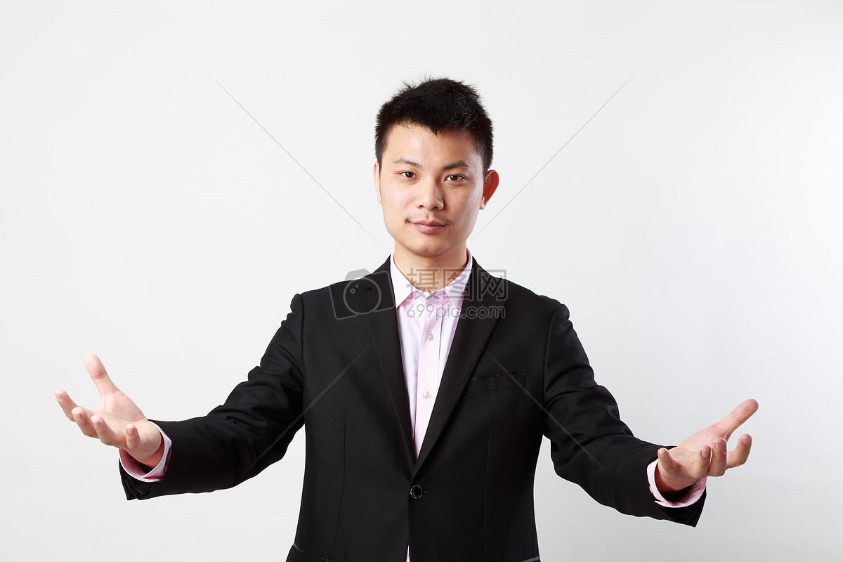 商务白背景人物素材男性