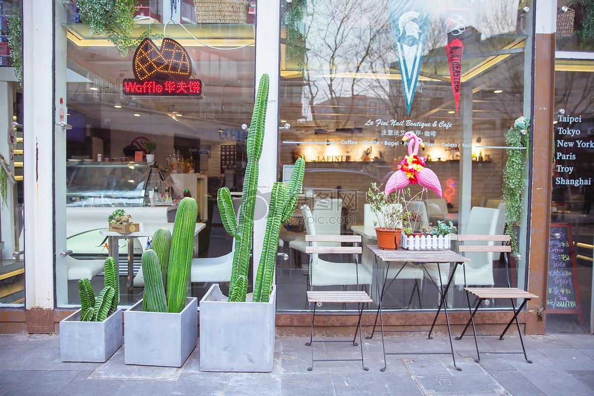 清新文艺绿植咖啡店图片素材_免费下载_jpg图片格式