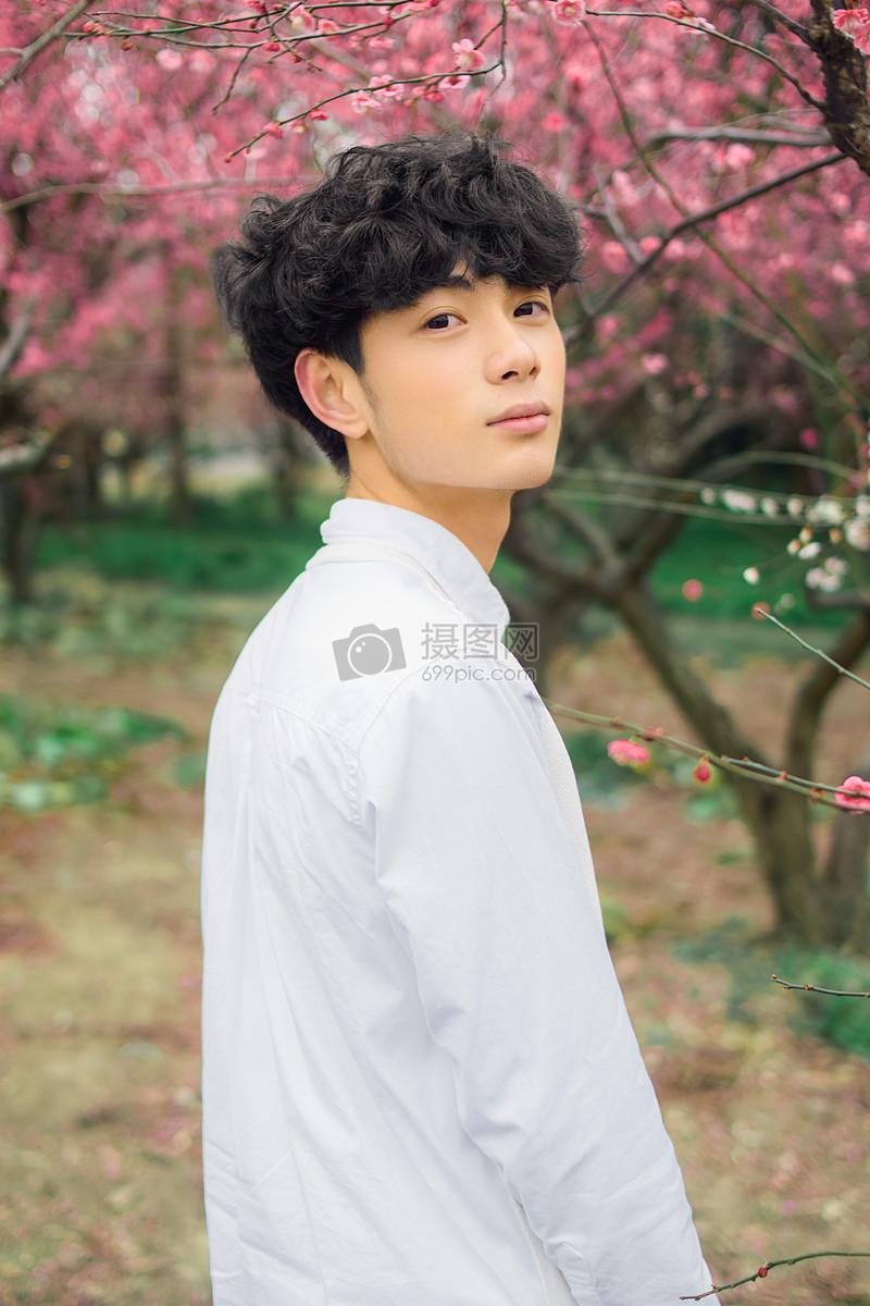 标签: 清纯男孩白衬衫樱花帅哥唯美学生小清新可爱帅气的男孩在樱花