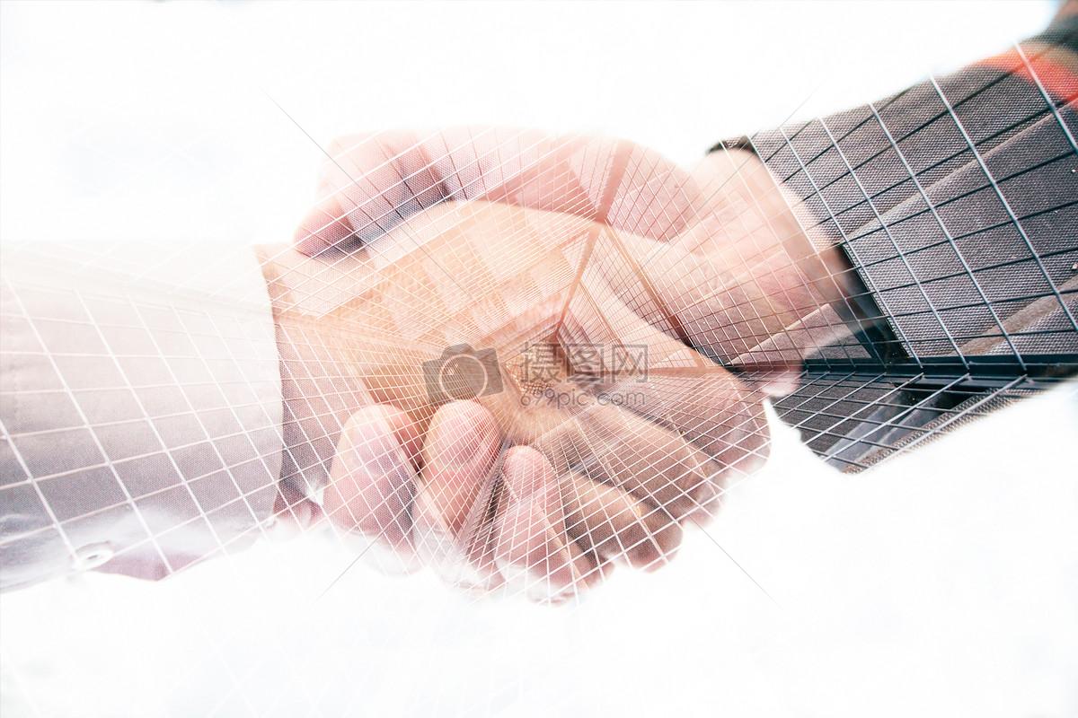 双重曝光商务概念图片