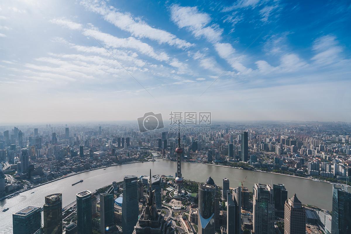 俯视城市风景