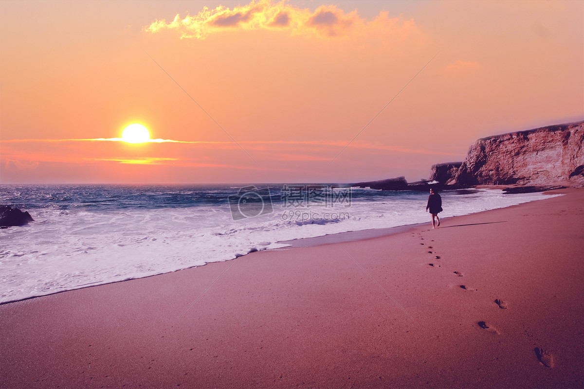 海边美丽夜景 摄影图片免费下载_自然/风景图库大全
