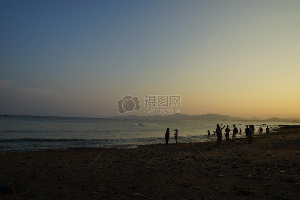 大连游玩海边夕阳摄影图片免费下载_自然/风景图库
