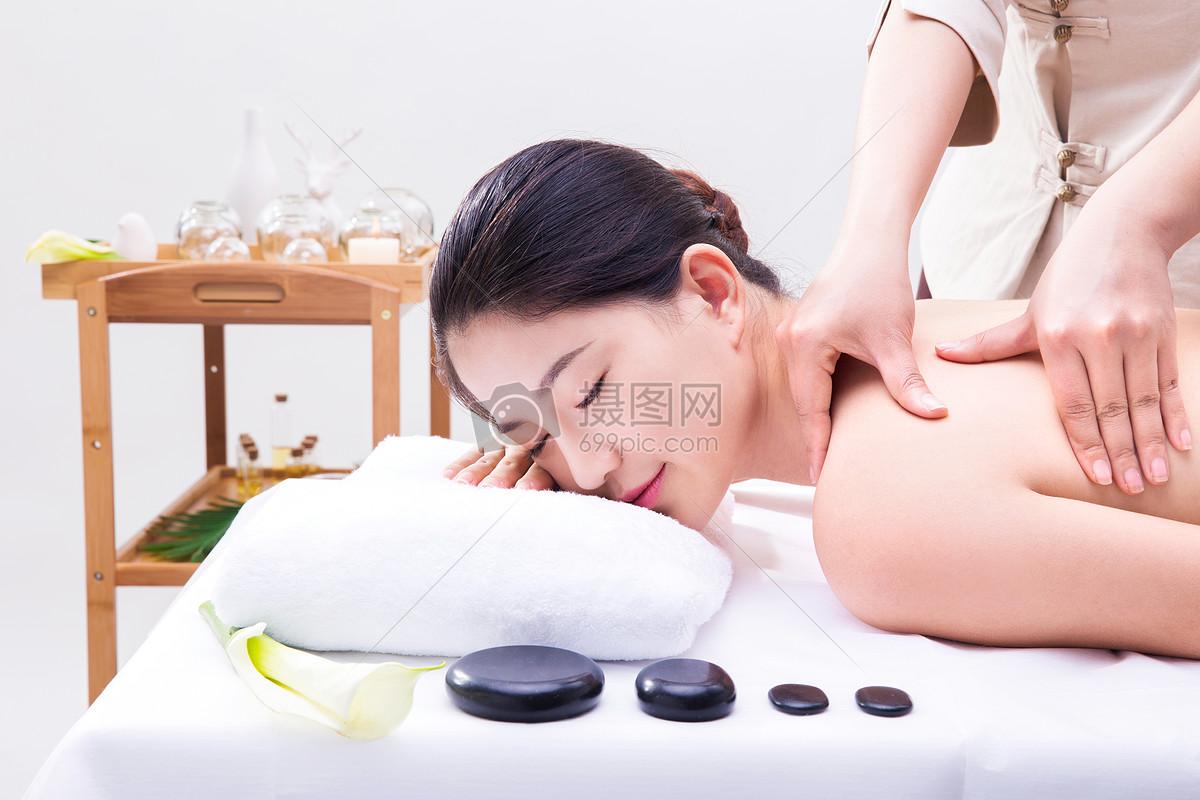 养生美容性感美女做spa按摩图片素材_免费下载_jpg__.