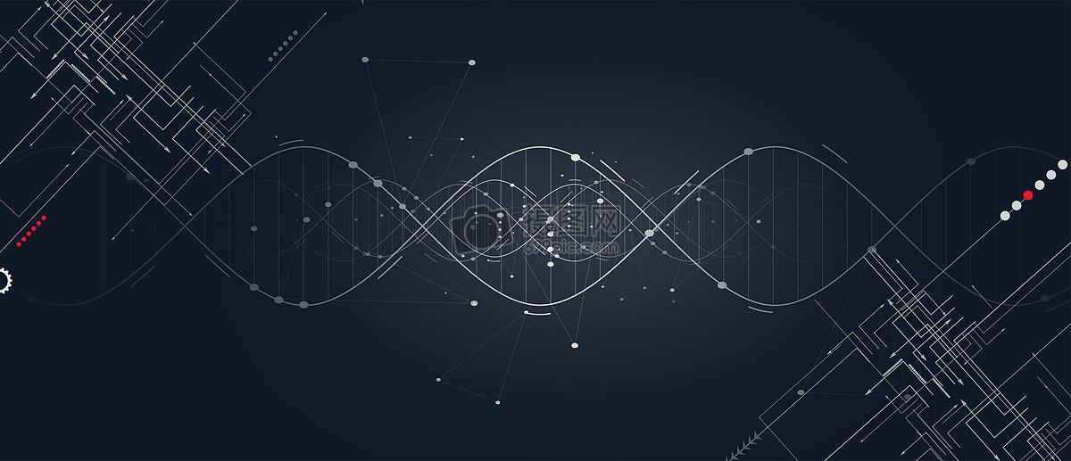 线条大气科技感背景图片