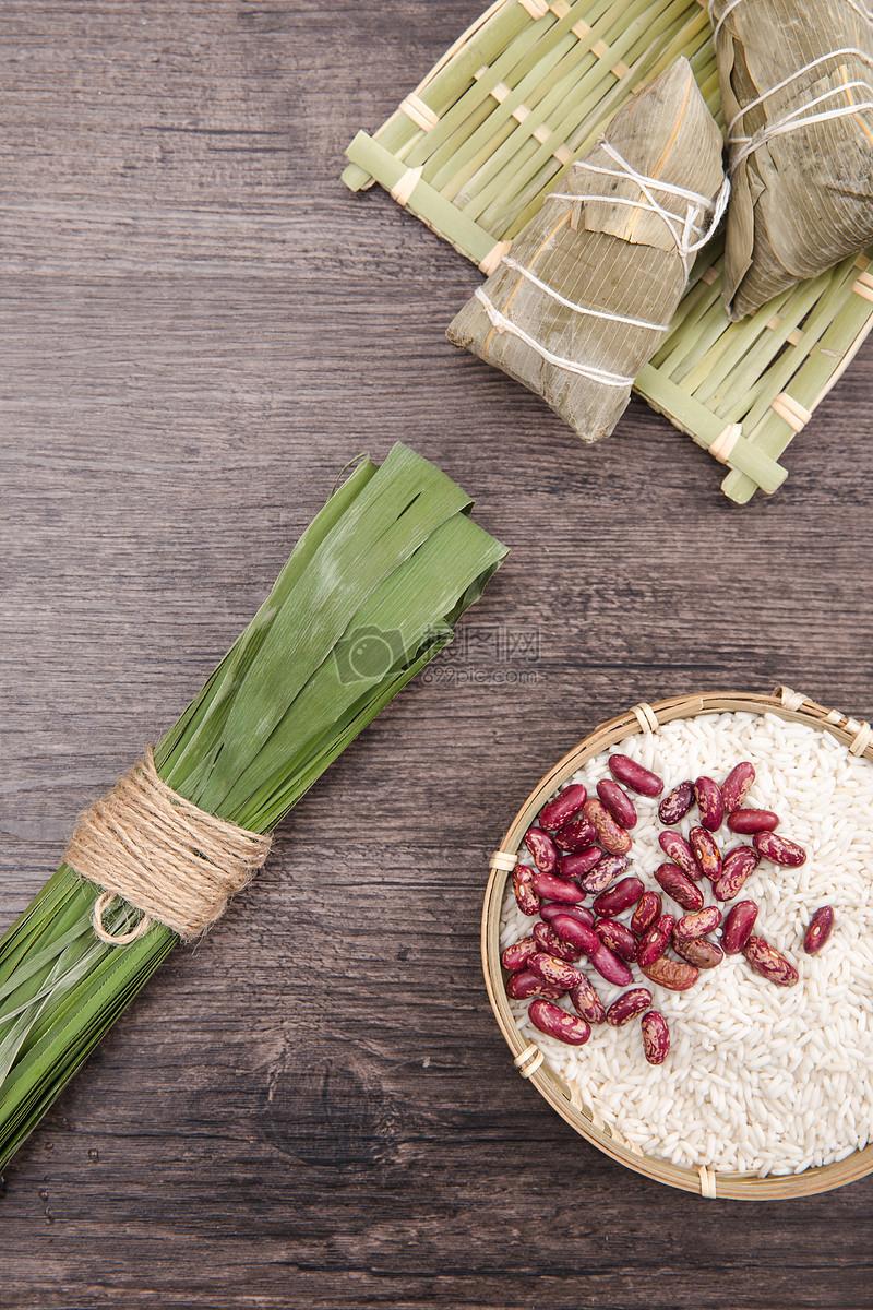 端午包粽子材料和粽子