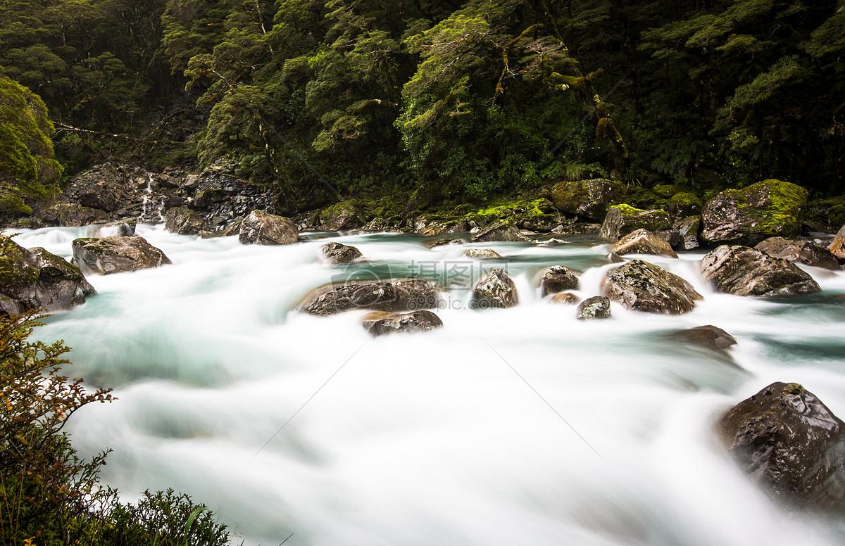 小溪边摄影图片免费下载_自然/风景图库大全_编号-摄