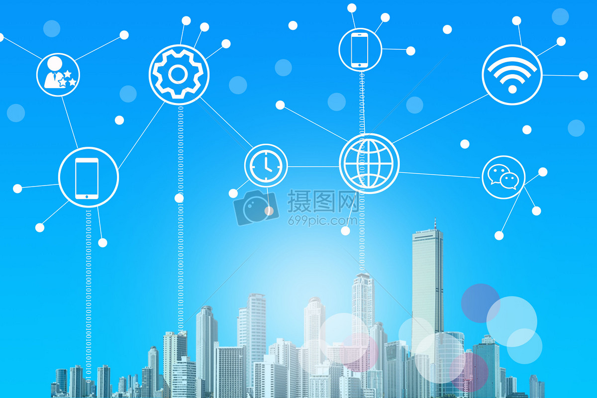 标签: 联系网络背景蓝色通信连接科技智能信息互联网城市大楼