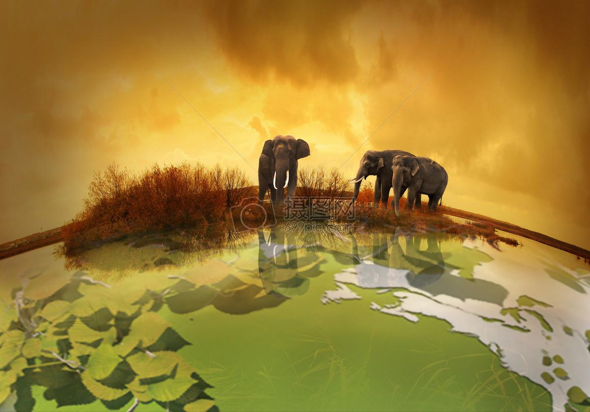 图片环保背景-正在退色的地球图片免费下载 免费下载无水印高清大图