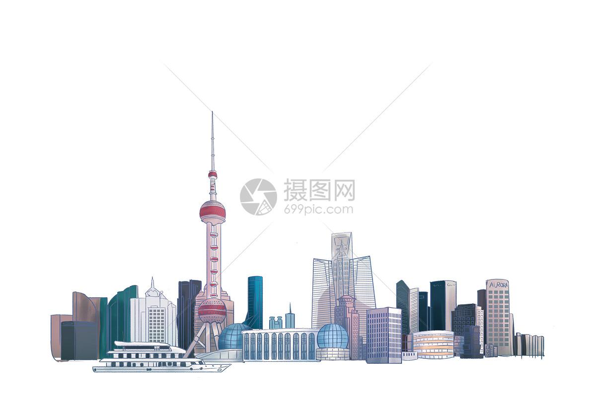 创意合成 建筑空间 城市素描线条jpg