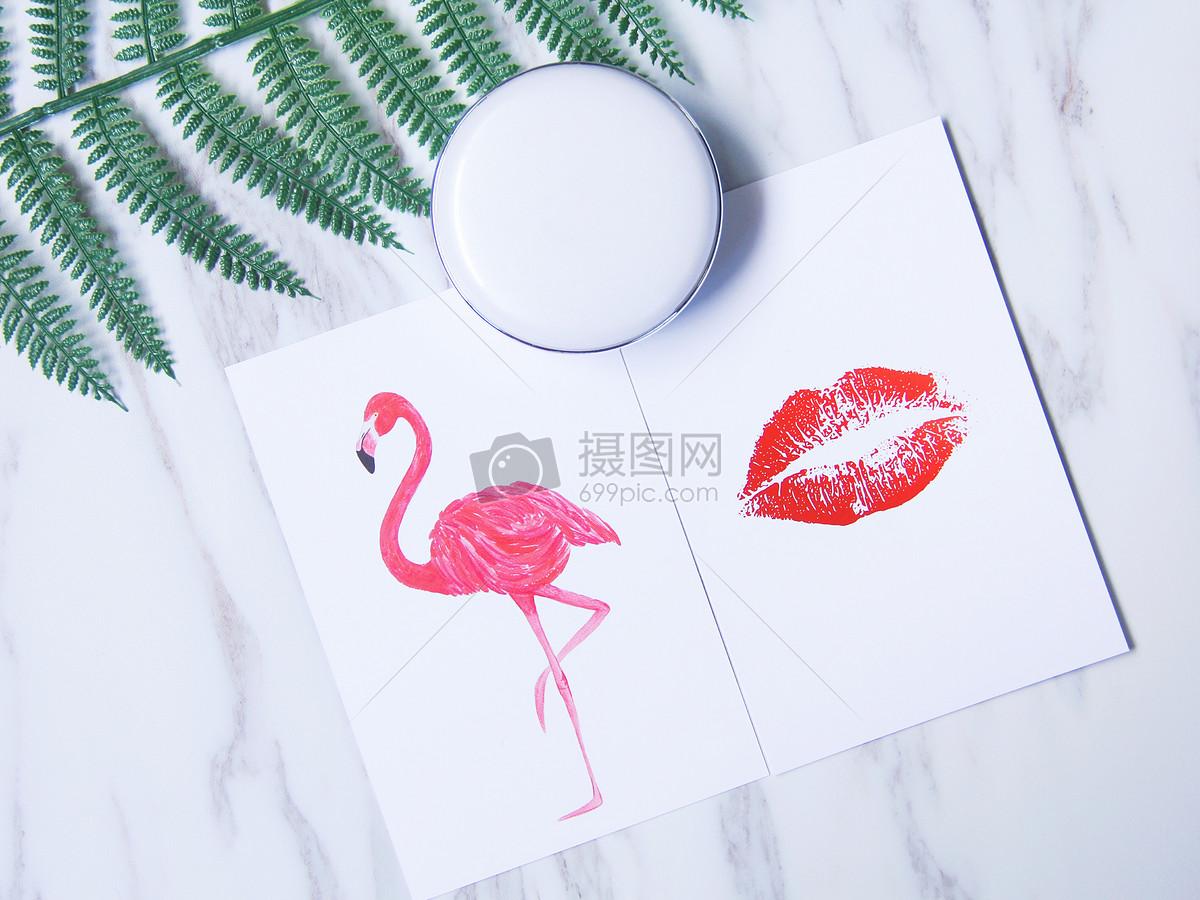 时尚化妆背景素材图片