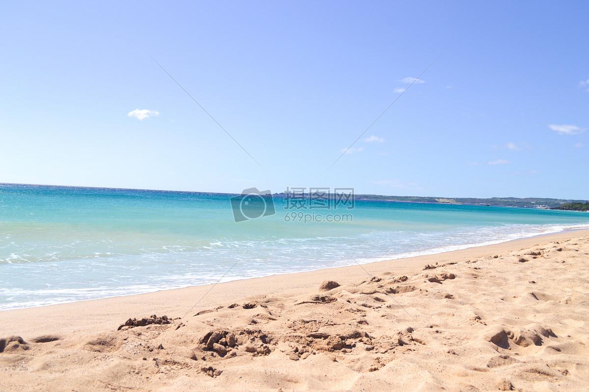海边沙滩摄影图片免费下载_自然/风景图库大全_编号