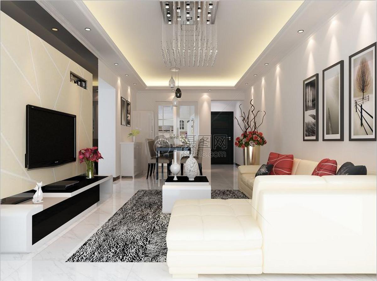 现代客厅室内装修效果图设计