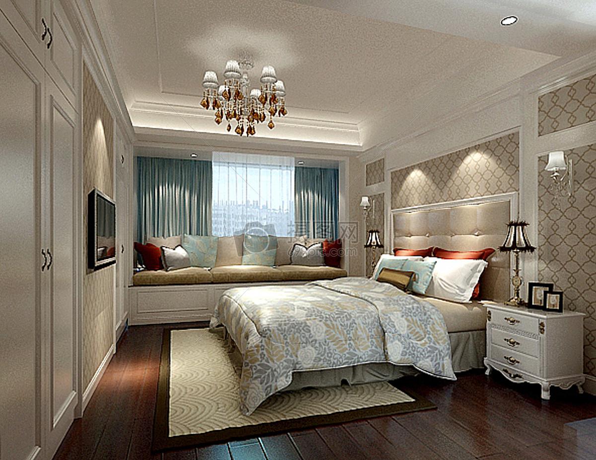 简欧卧室室内装修效果图