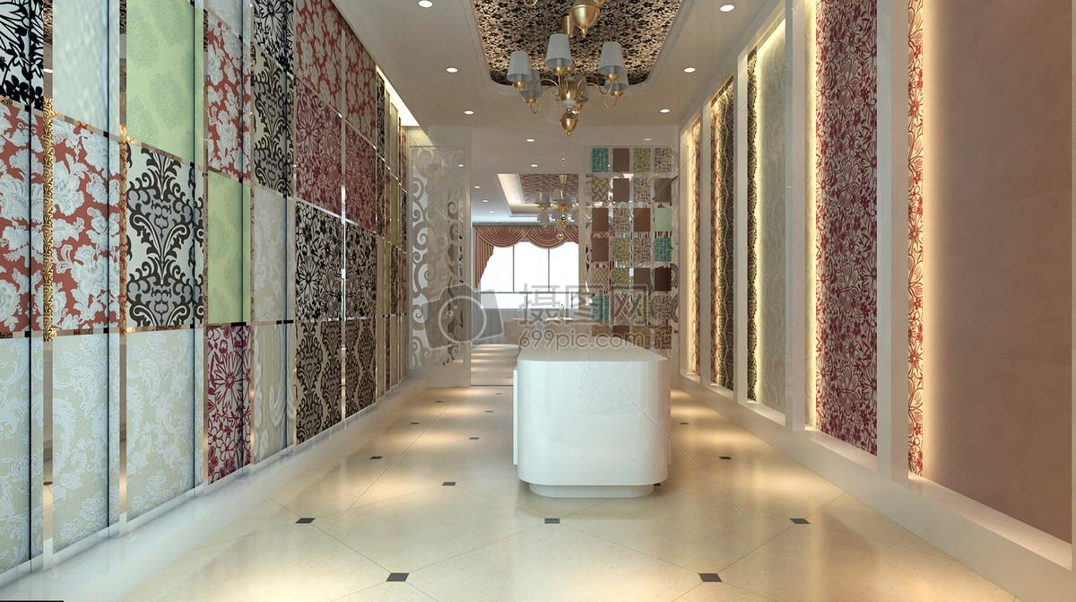 瓷砖墙纸建材专卖店装修效果图