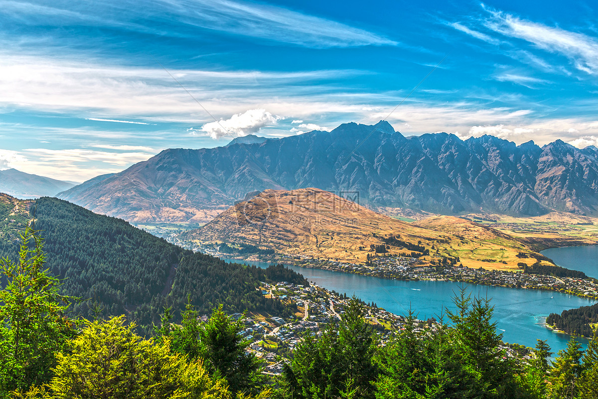 新西兰高清图片_新西兰皇后镇全景高清图片下载-正版图片500426719-摄图网