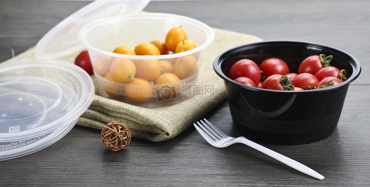 标签: 饭盒黑色餐盒打包碗快餐盒外卖盒便当盒花纹圆形外卖餐盒图片